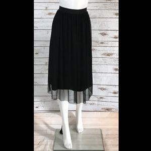 H&M Tulle Midi Ballet Skirt Black Size 2